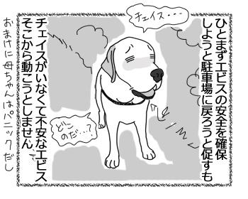 羊の国のラブラドール絵日記シニア!!「強風め!」4