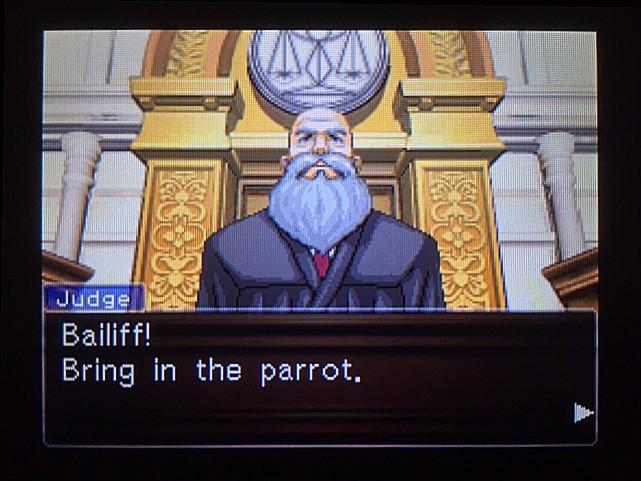 逆転裁判 北米版 オウム入廷21