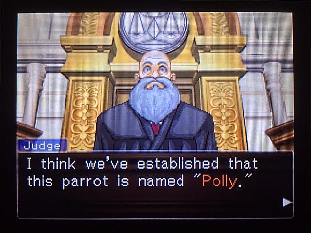 逆転裁判 北米版 オウムのポリーの証言と反対尋問21