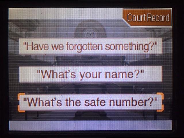 逆転裁判 北米版 金庫の暗証番号は…5