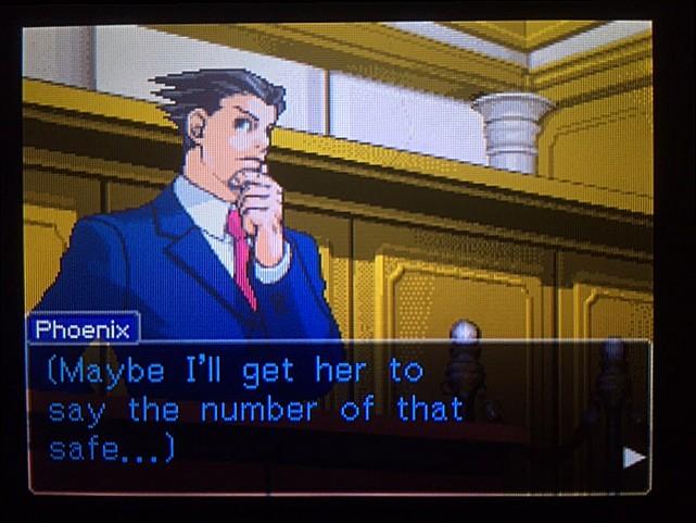 逆転裁判 北米版 金庫の暗証番号は…6