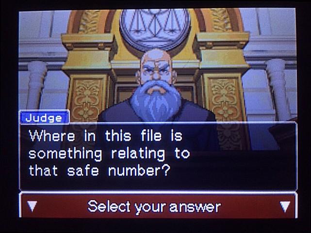 逆転裁判 北米版 金庫の暗証番号は…19