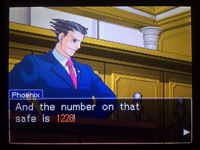 逆転裁判 北米版 金庫の暗証番号は…27