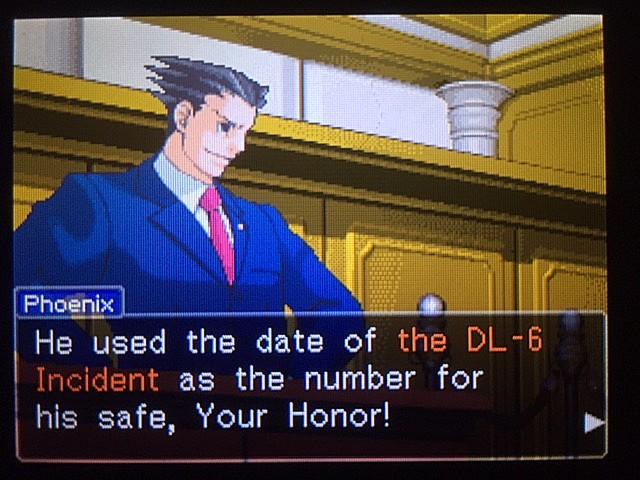 逆転裁判 北米版 金庫の暗証番号は…29