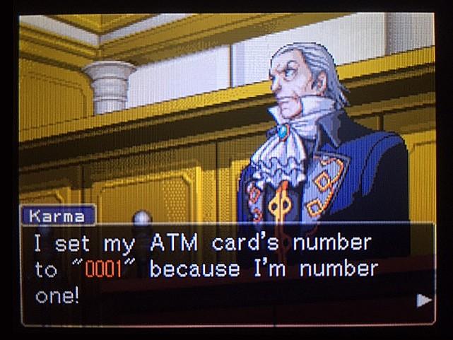 逆転裁判 北米版 金庫の暗証番号は…33