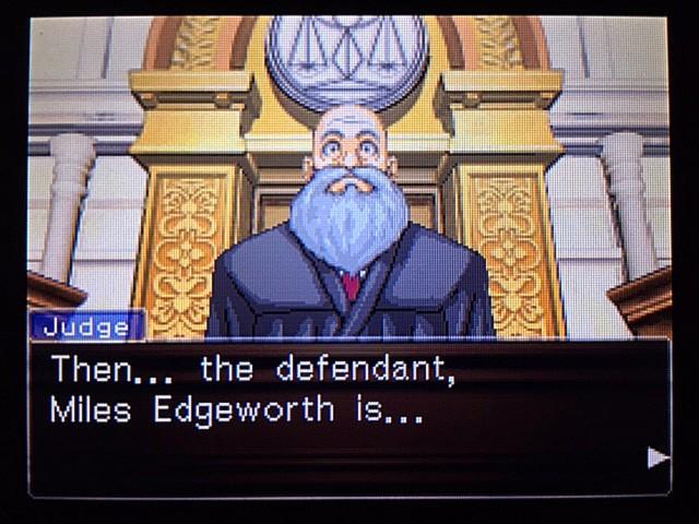 逆転裁判 北米版 エッジワースへの無罪判決!だが…3