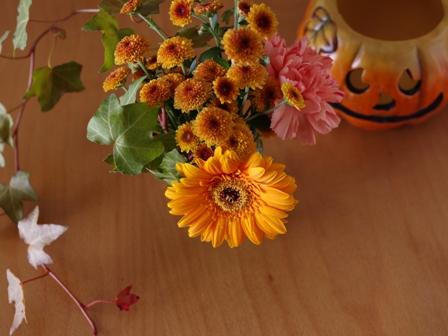 カフェモカパウンドケーキのお花アレンジハロウィン02