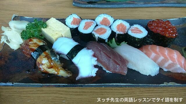 勝利寿司は食通のタイ人客が多い穴場的な寿司屋 in ペッチャブリー