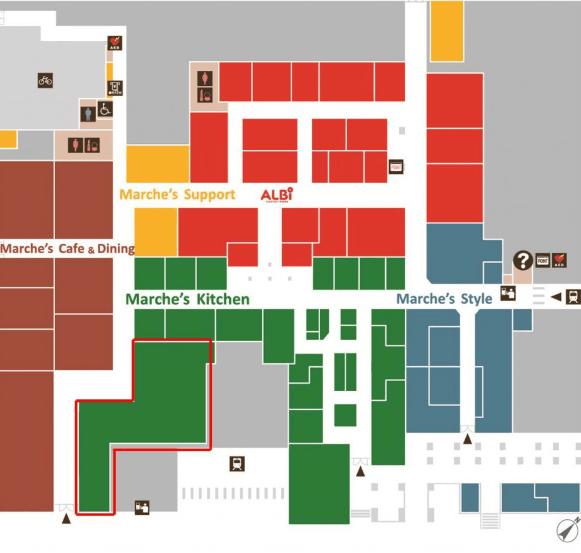 エキマルシェ大阪地図