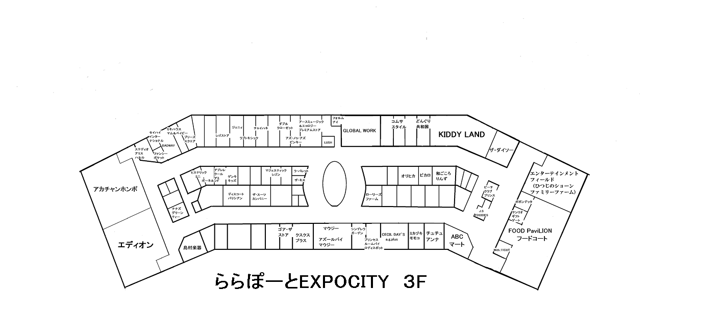 ららぽーとEXPOCITY3F完成版