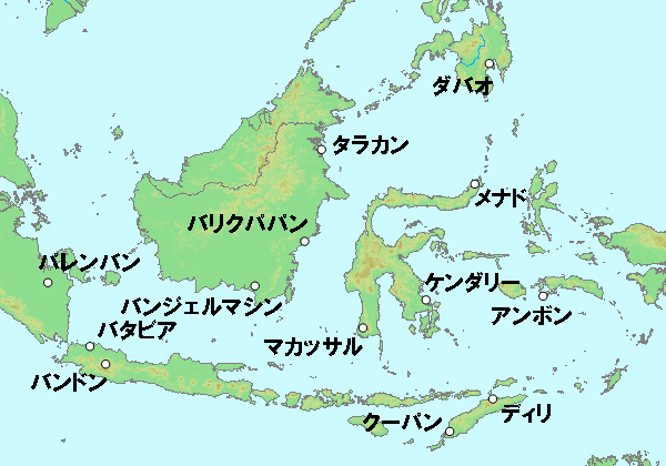 蘭印作戦における日本軍の主な作戦目標