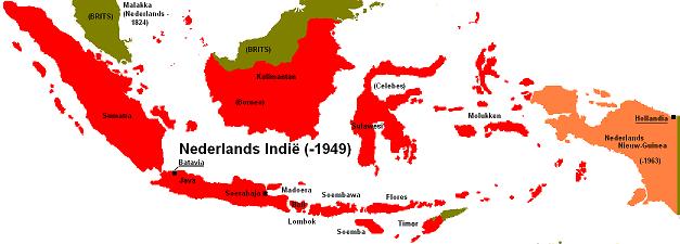オランダ領東インドの領域