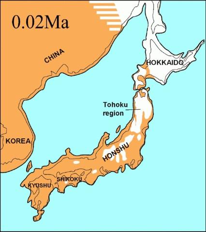 2万年前の日本列島