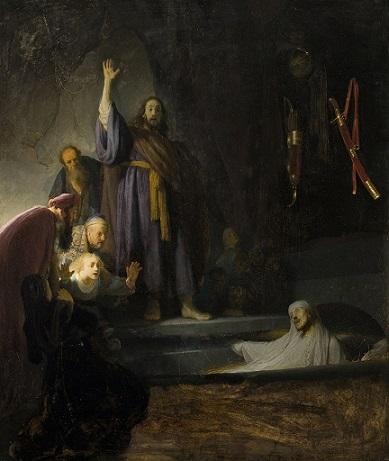 The Raising of Lazarus Rembrandt 1630