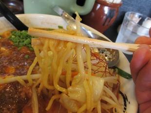 ゆず 麻婆担々麺 麺