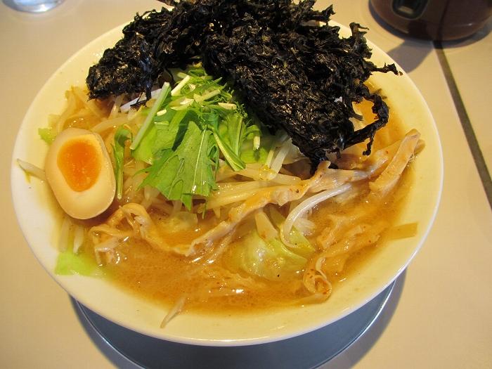 中田製作所 煮干味噌野菜ラーメン岩海苔