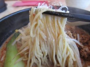 東横紫竹山 濃厚担々麺 麺