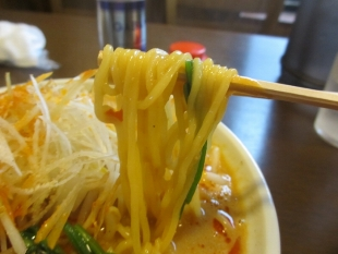 樹よし 味噌担々麺 麺