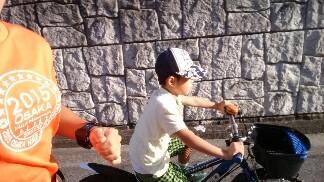 息子とレース前最後の練習!