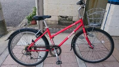 26x1.5のクロスバイク、アベ17km/hでしたw