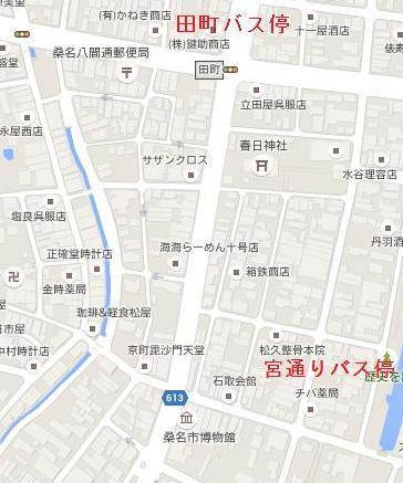博物館近くの地図